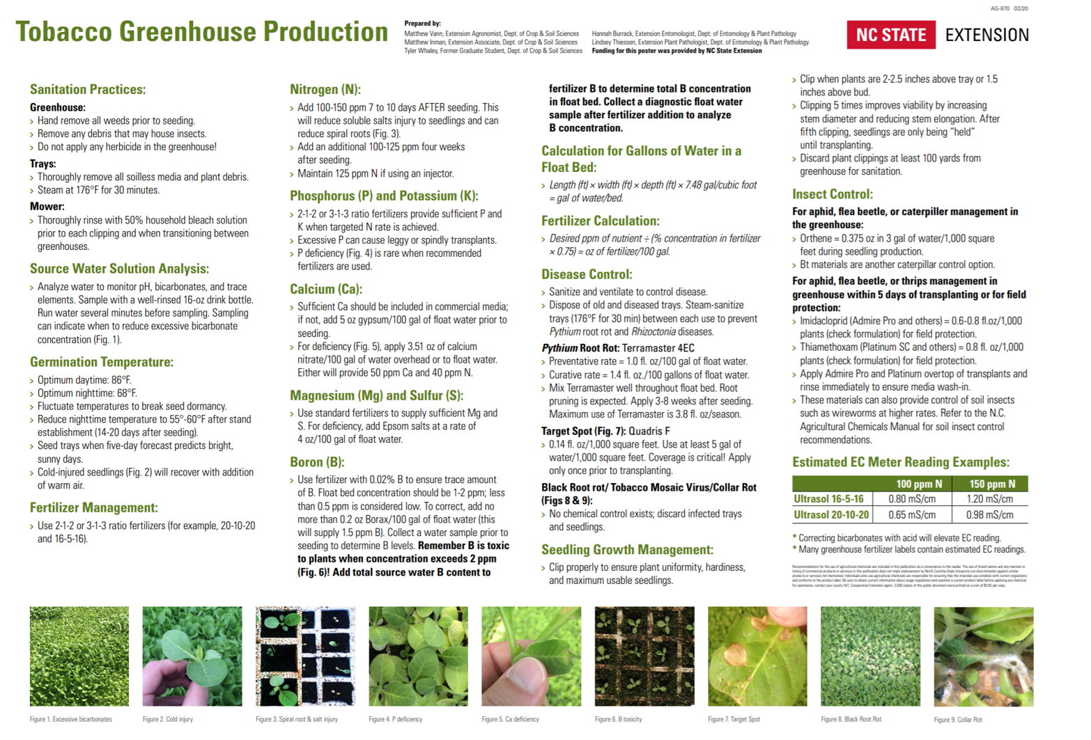 Tobacco Greenhouse Production poster image